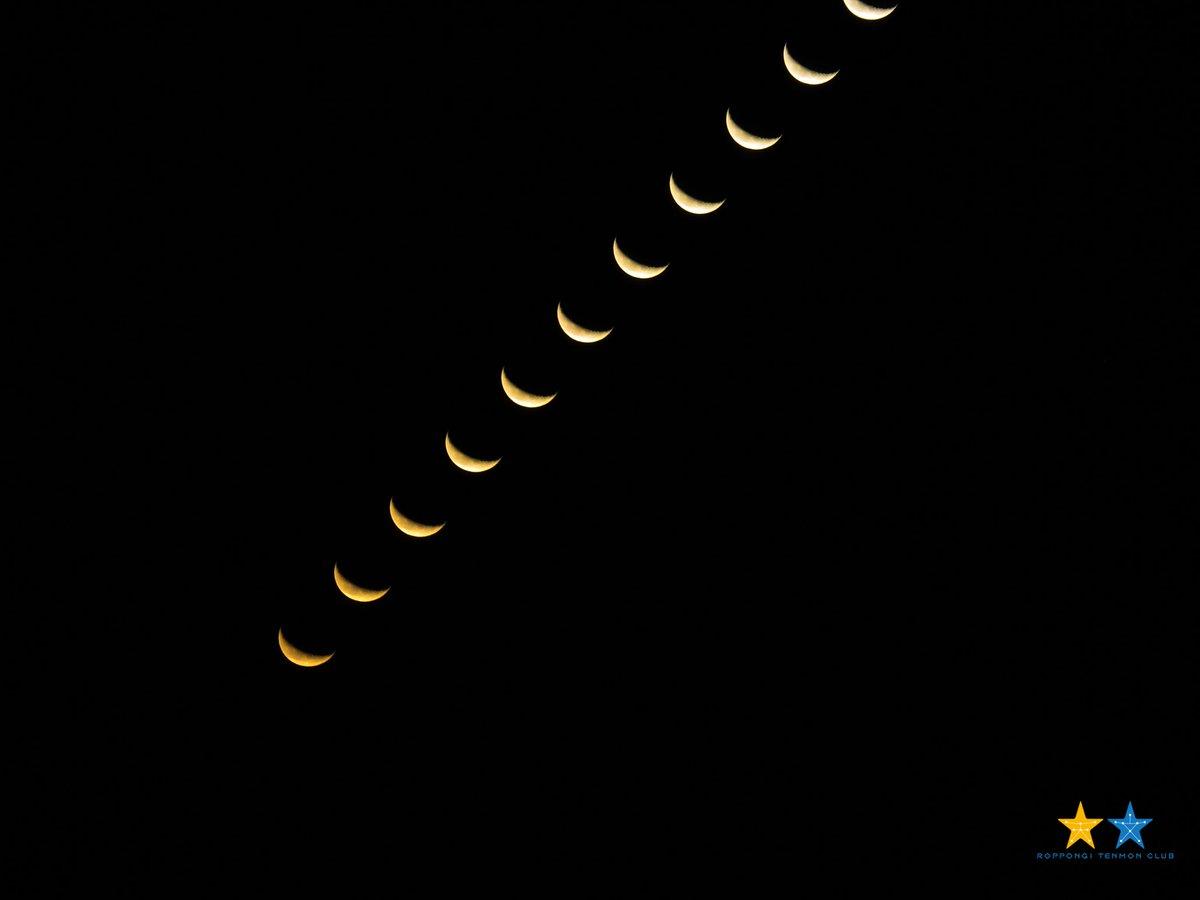 おはようございます。 明け方に東京湾から月が昇って来ました。 綺麗な形だったの、写真を(2枚)お届け…