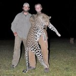 RT tutticontenti: #DonaldTrumpJr  #EricTrump  #BanTrophyHunting  #AnimalCruelty  Two of these are cold-blooded, soulless killers.  The other is a leopard.