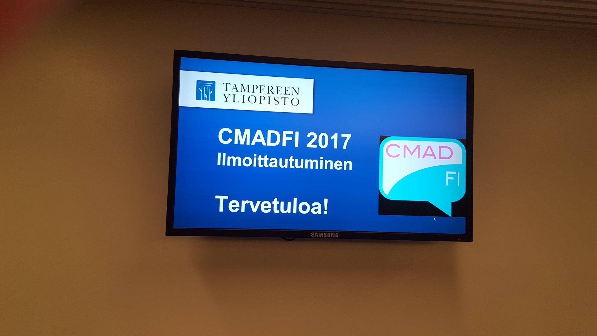 #cmadfi #cmadfi2017 Täällä jo valmiina. Tervetuloa! https://t.co/gl22FfTQxj