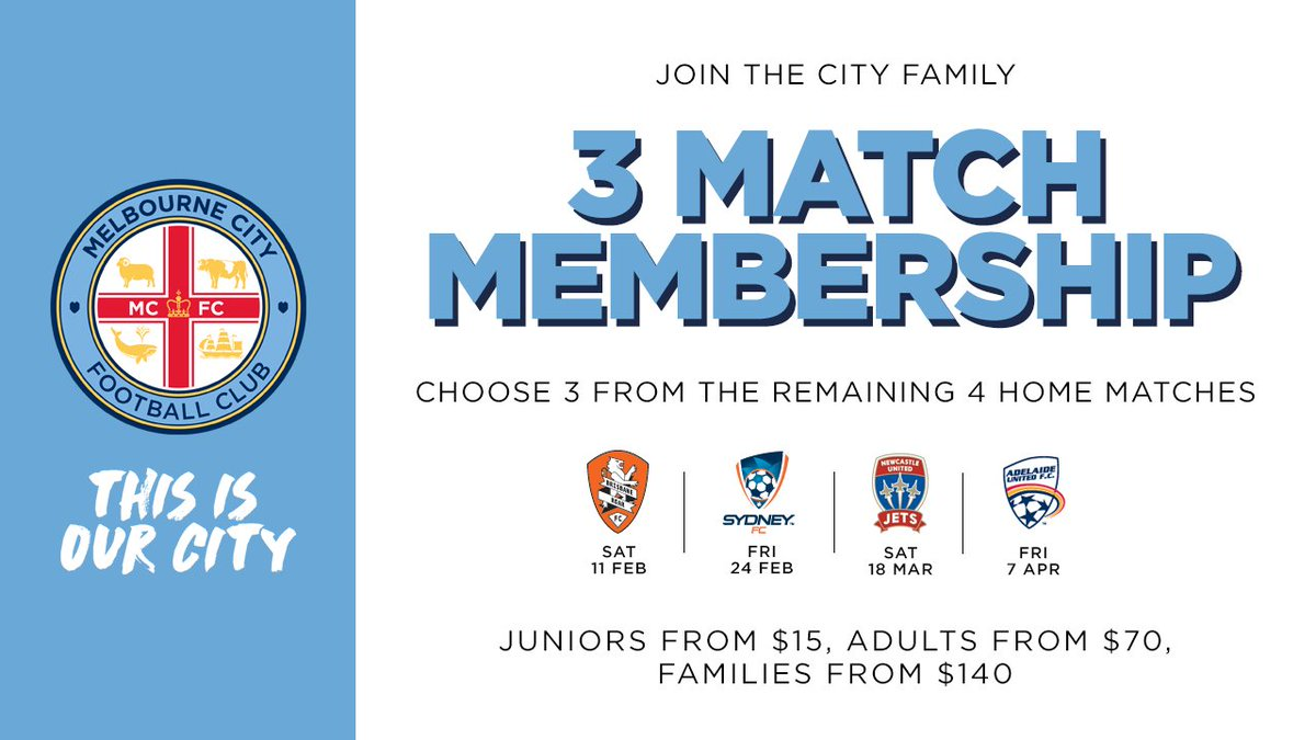 See our final home matches with our 3 Match Membership! Sign up today....
