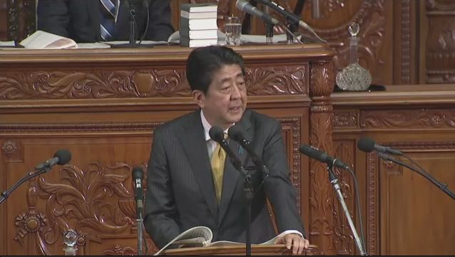 国会衆院本会議。安倍「TPP対策費にはTPP発効に関わらず必要なものがあった」「既に予算化しているも…