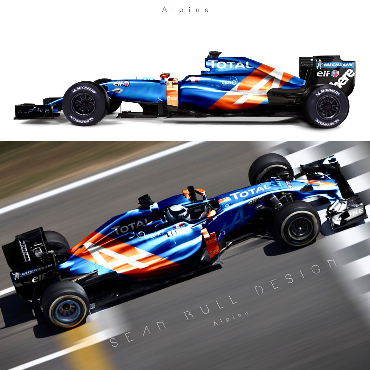 Sean Bull Design On Twitter Anyone Else Rather See The Renaultsportf1 Team Rebranded Alpine With This Colour Scheme On Offer Renault F1 Formulaone Formula1 Https T Co Xswbgbu08v