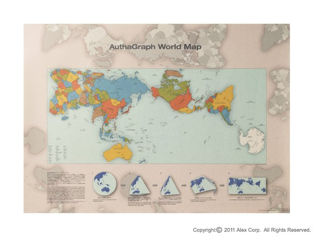 """ALEXCIOUS on Twitter """"AuthaGraph World Map The winner of the GOOD"""