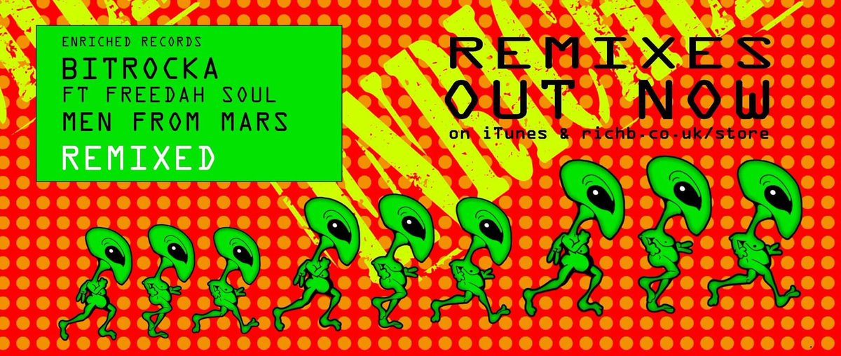 #OUTNOW BITROCKA Ft FREEDAH SOUL #MenFromMars #REMIXED Download: iTunes:  http:// found.ee/fblMi  &nbsp;   #EXCLUSIVE to Enriched Records. <br>http://pic.twitter.com/78F4K51aBr