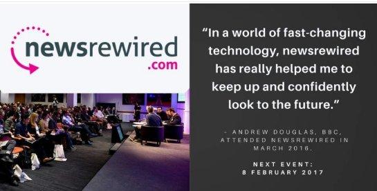 Book now: Digital journalism conference, 8 Feb, Reuters.  http:// bit.ly/2iYX5JC  &nbsp;   #journalism #FakeNews #digital #newsrw @newsrewired<br>http://pic.twitter.com/knUNMzwipq