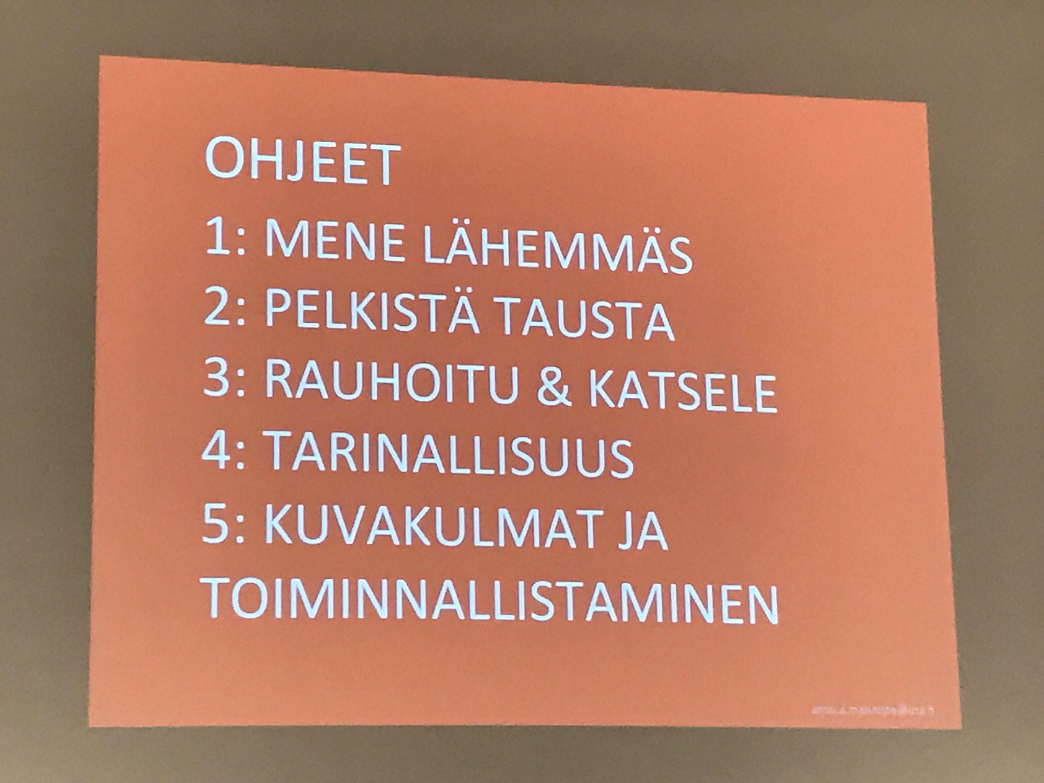 @UniTampere'n Anssi Männistö tiivisti hauskassa puheenvuorossa viisi vinkkiä: millaiset kuvat viestinnässä toimivat. #cmadfi https://t.co/2N3bWBE8kC
