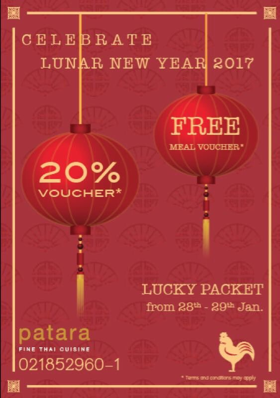 PATARA Thailand On Twitter Celebrate This Chinese New Year At Patara Draw The Lucky Packet To Get Free Meal Or 20 Disc Voucher