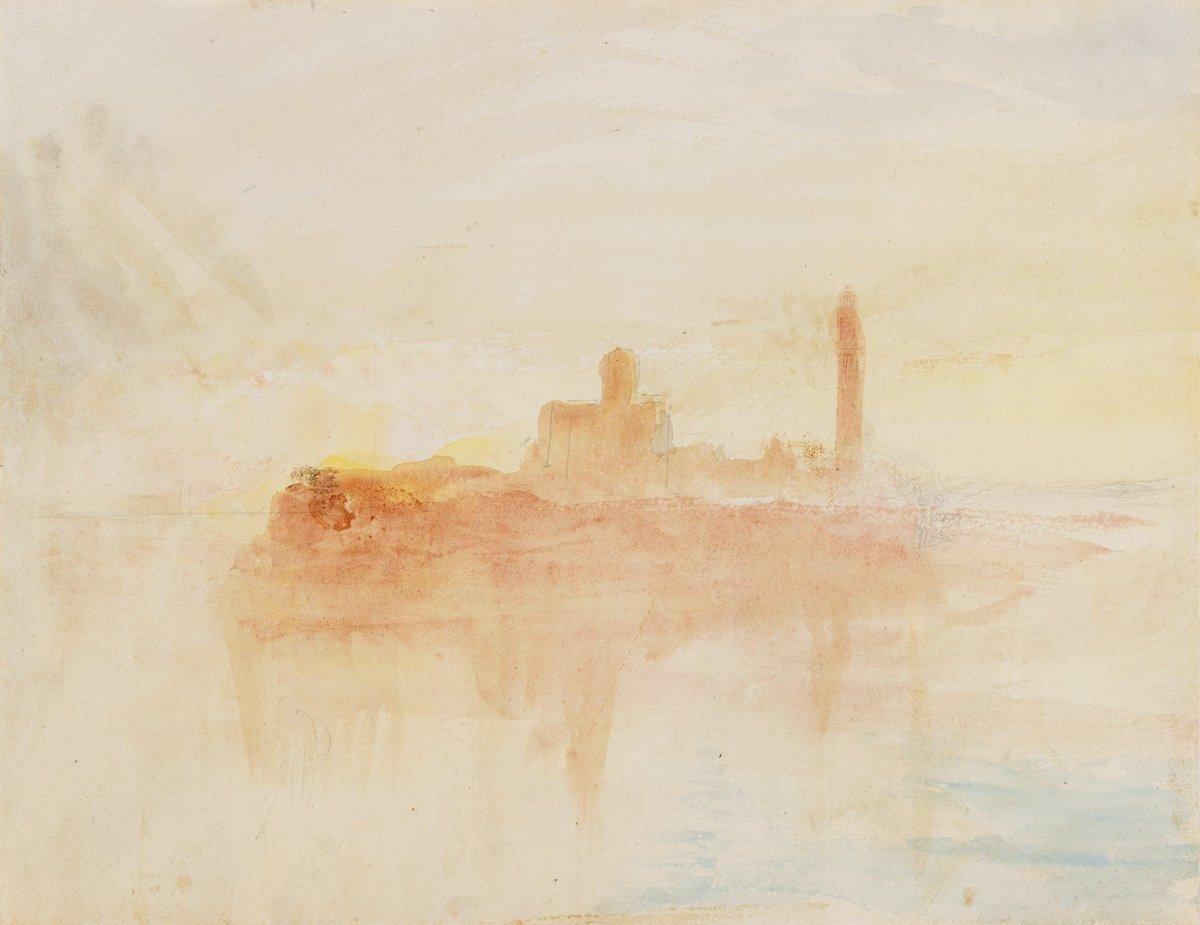 Last full week to see the #Turner exhibition - it closes 31 Jan. Admission free. (JMW Turner, 'San Pietro di Castello at Sunrise', c.1840.) <br>http://pic.twitter.com/z2qWXeJ25F