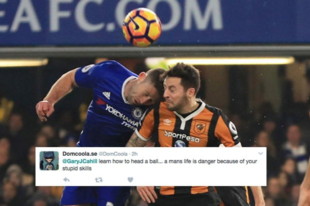 Chelsea star #GaryCahill attacked on Twitter after horror head clash with #RyanMason https://t.co/CJy7exBUnq
