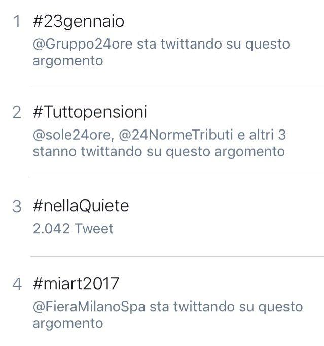 #Tuttopensioni nelle tendenze di @TwitterItalia. Continuate a seguirci.@24Eventi @sole24ore @Gruppo24ore https://t.co/3cIyteCIVM