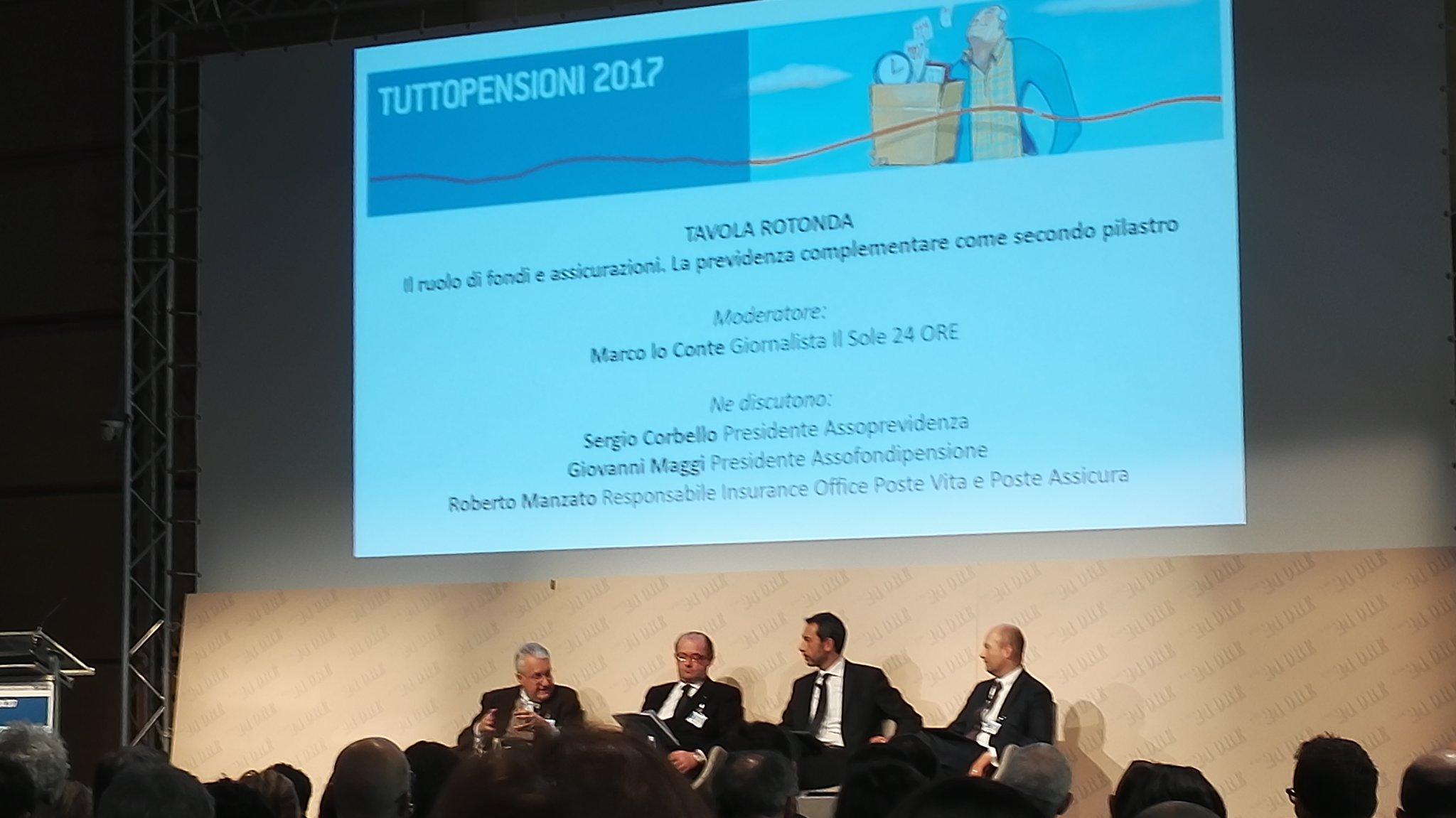 Ruolo di #fondi e #assicurazioni #tuttopensioni @sole24ore con #SergioCorbello @Assoprevidenza #GiovanniMaggi #RobertoManzato  @loconte63 https://t.co/Pho6Q6Et7w