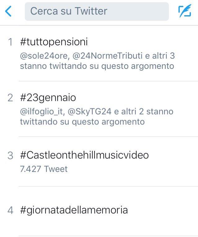 #Tuttopensioni sta per concludersi. In prima posizione nei trending topic https://t.co/dfFIJbz86A