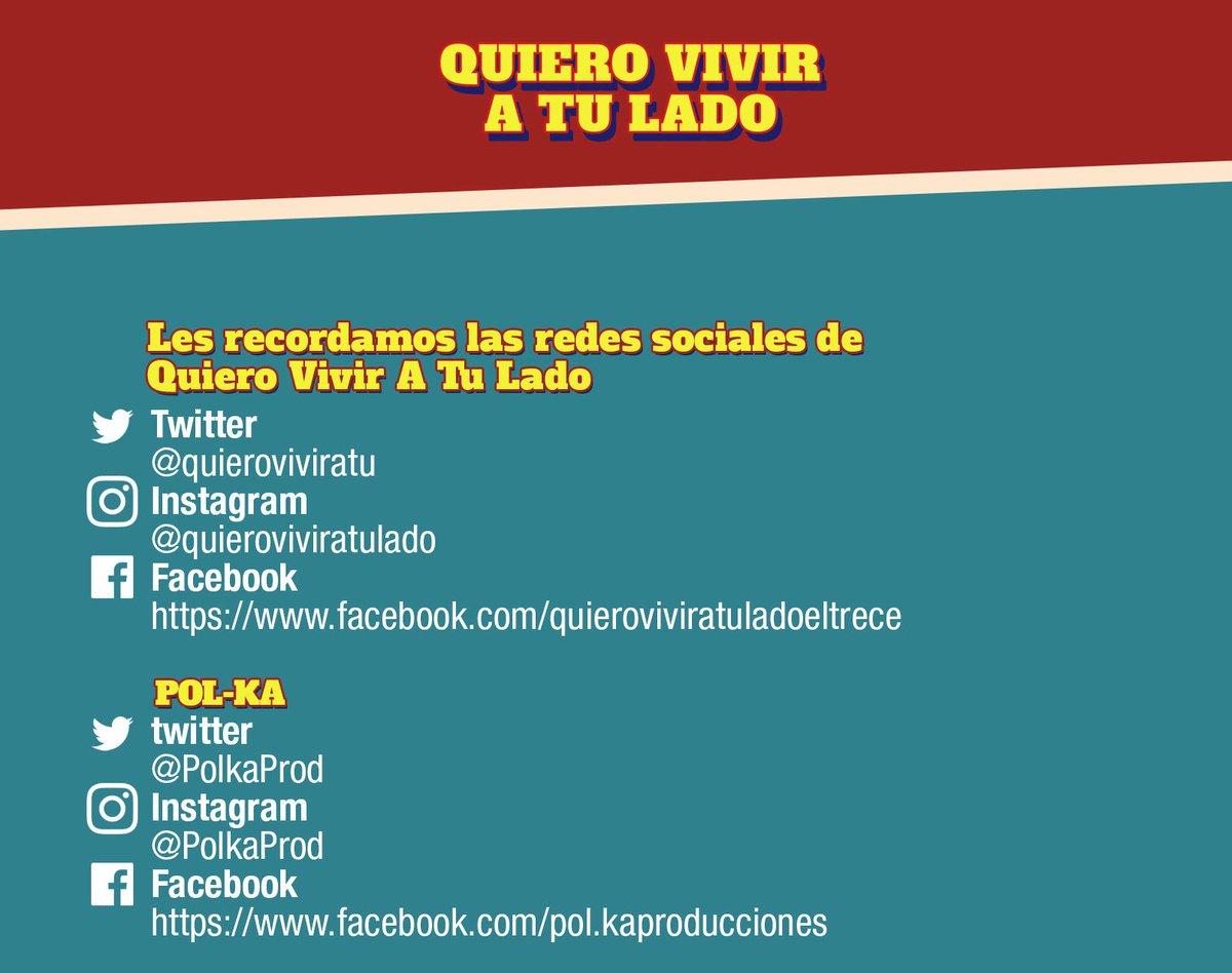 Les recordamos las redes oficiales de #QuieroVivirATuLado cc @PolkaPro...