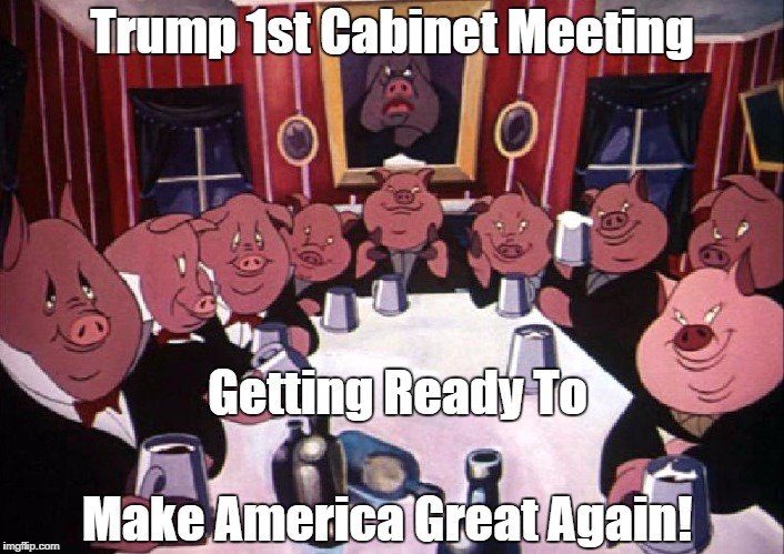 I see no reason to hurry &amp; confirm #Trump&#39;s #Deplorable Cabinet Nominees!  #JustSaying Take Your Time Democrats, Show #GOP the same courtesy <br>http://pic.twitter.com/eZnYRWnoHL