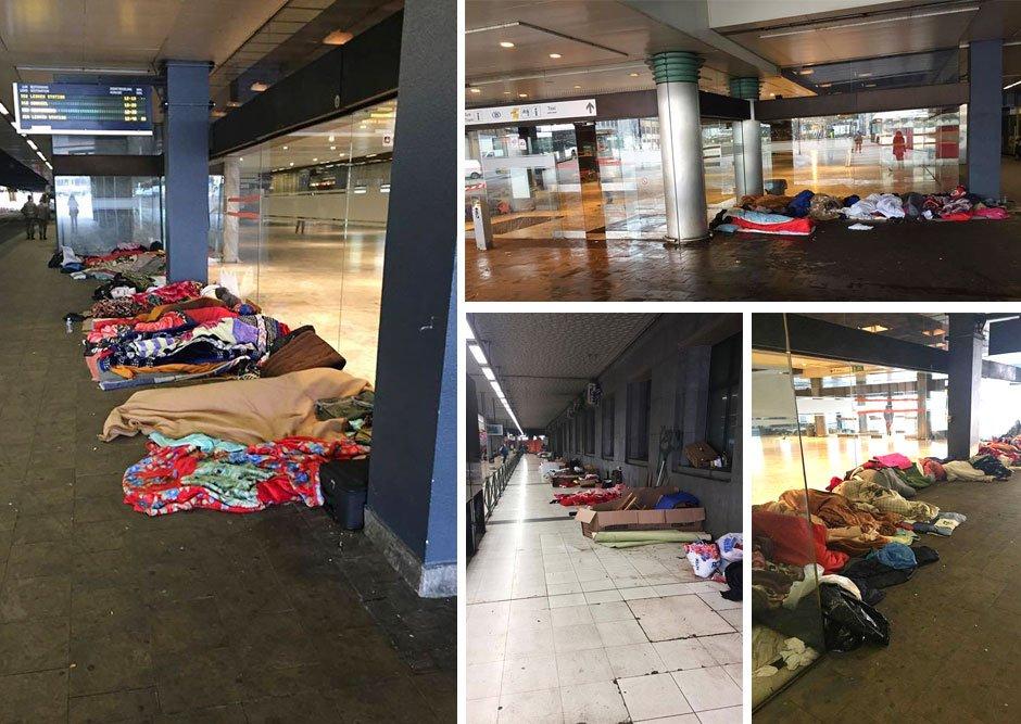 Asielzoekers op station Brussel