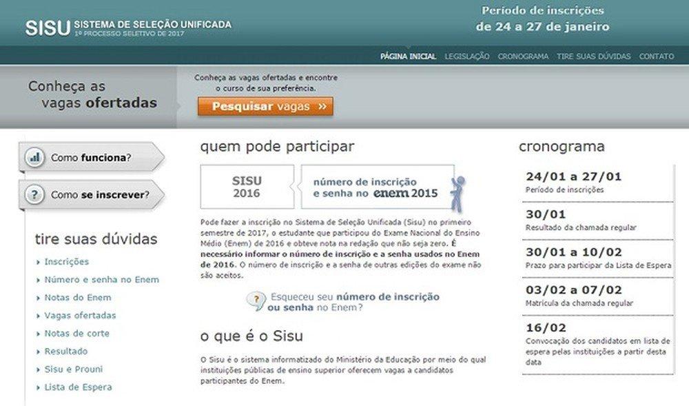 Sisu vai abrir inscrição para 238 mil vagas; veja dúvidas e respostas...
