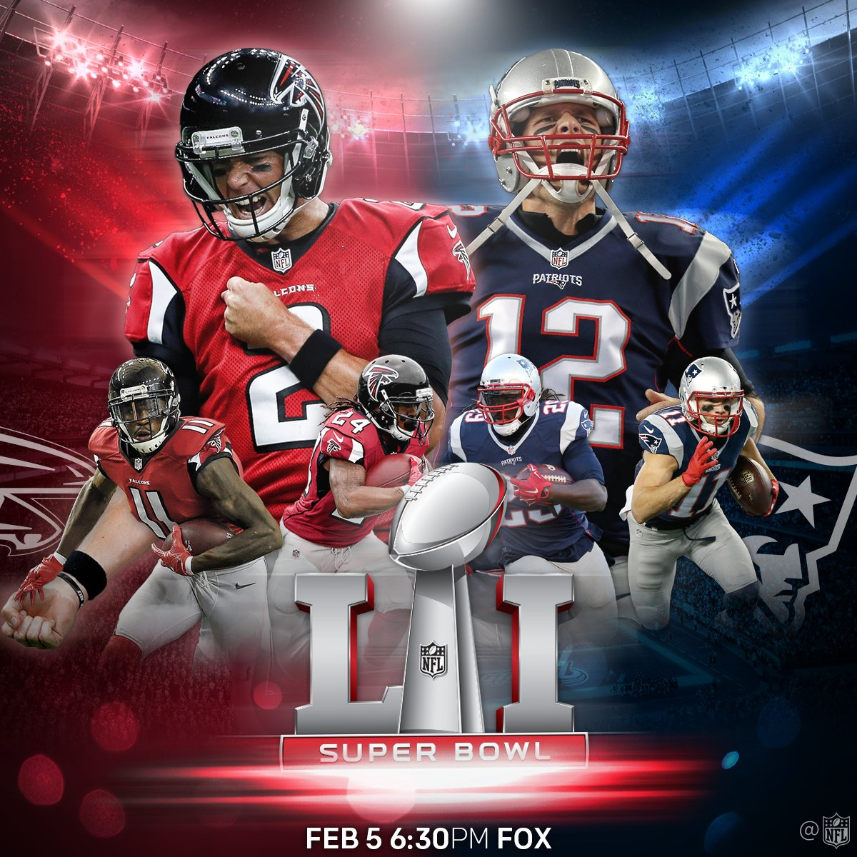 "NFL on Twitter: ""TB12 vs. @M_Ryan02. @Patriots vs. @AtlantaFalcons. It's on. #SB51… """