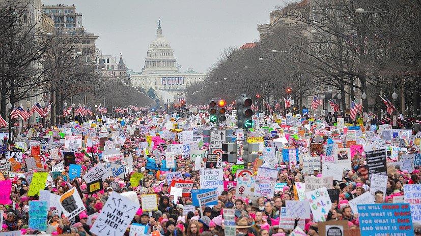 Домашняя революция: кто спонсировал «Марш женщин» против Трампа