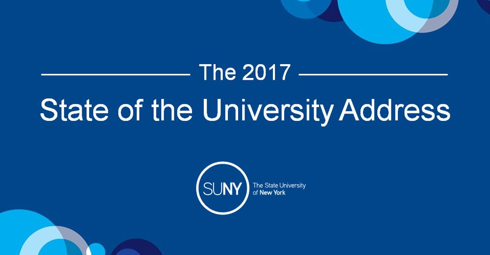 And... we're off! Welcome to the 2017 State of the University Address. #SOU2017  Watch live: https://t.co/4tgvR2oips https://t.co/u0MVxEnZEe https://t.co/XGv5bvYNGH