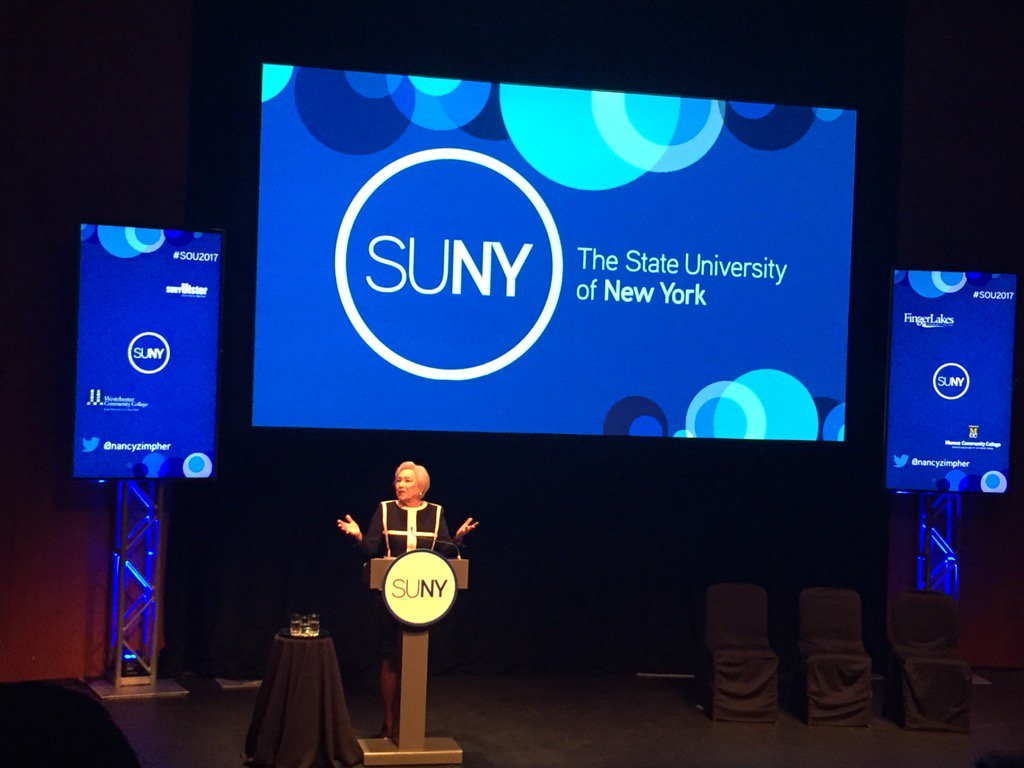 Chancellor @nancyzimpher takes the stage for her last State of the University address #SOU2017 https://t.co/Avywp2ibfK
