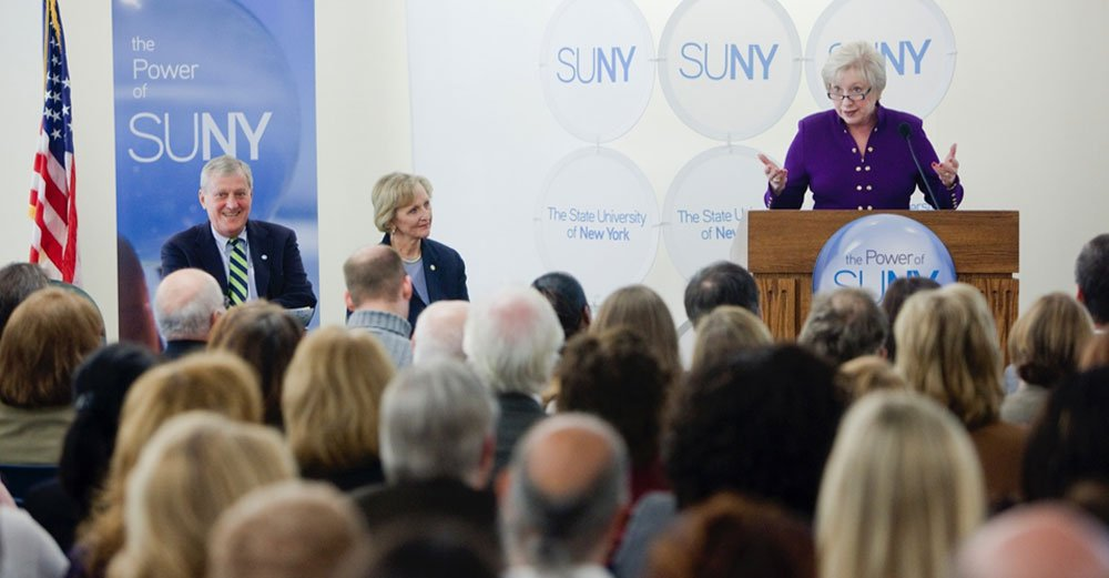 From day one, we built our plan for SUNY's future, to know what NY needs & find a way to provide it. The Power of SUNY has stuck. #SOU2017 https://t.co/4wXQj9Q3gl