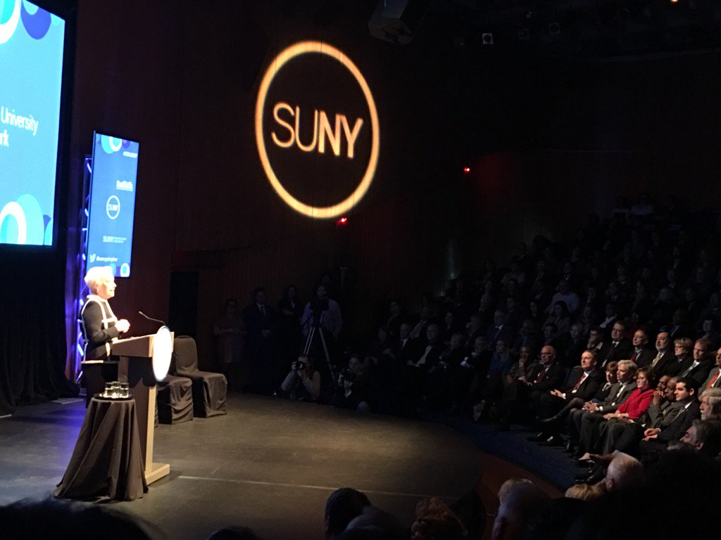 Listening to #SOU2017 @nancyzimpher gives her 6th State of the University Address. Great crowd on hand. @SUNY https://t.co/21V8ev9GHS