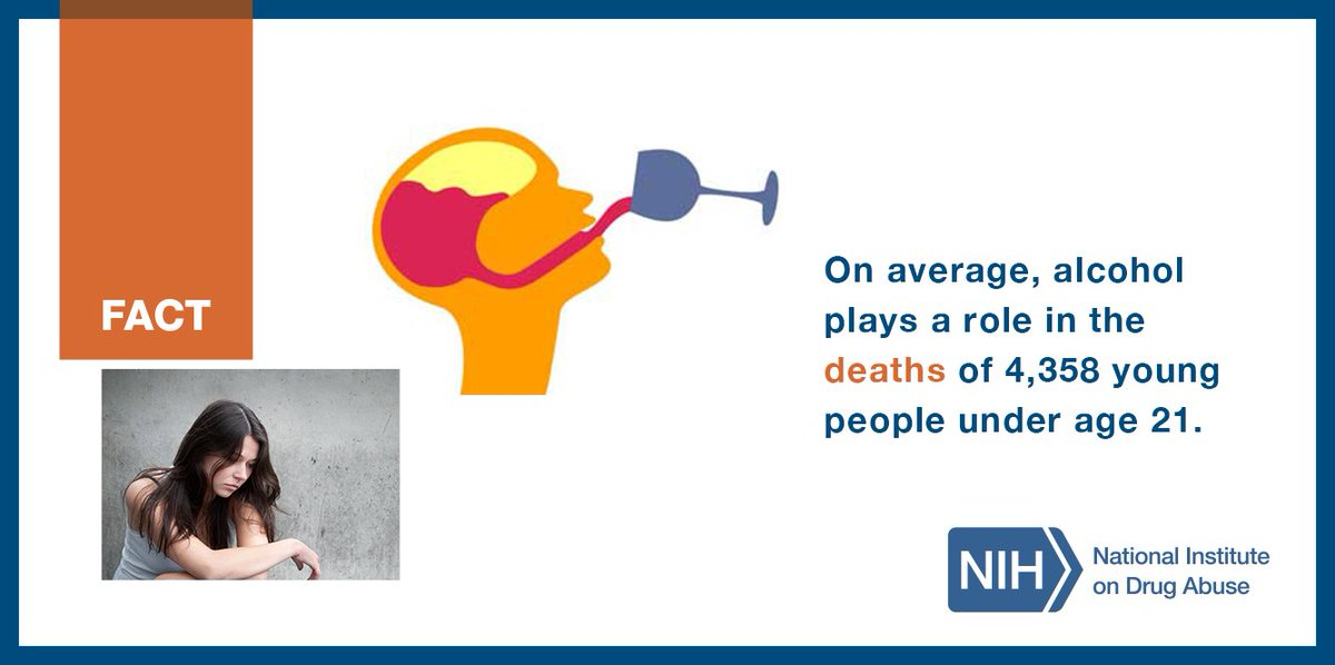 FACT: Alcohol plays a role in the deaths of 4,358 young people under 21 #NDAFW