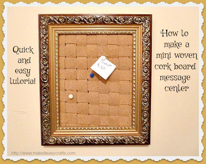 How to make a wonderful mini woven cork board