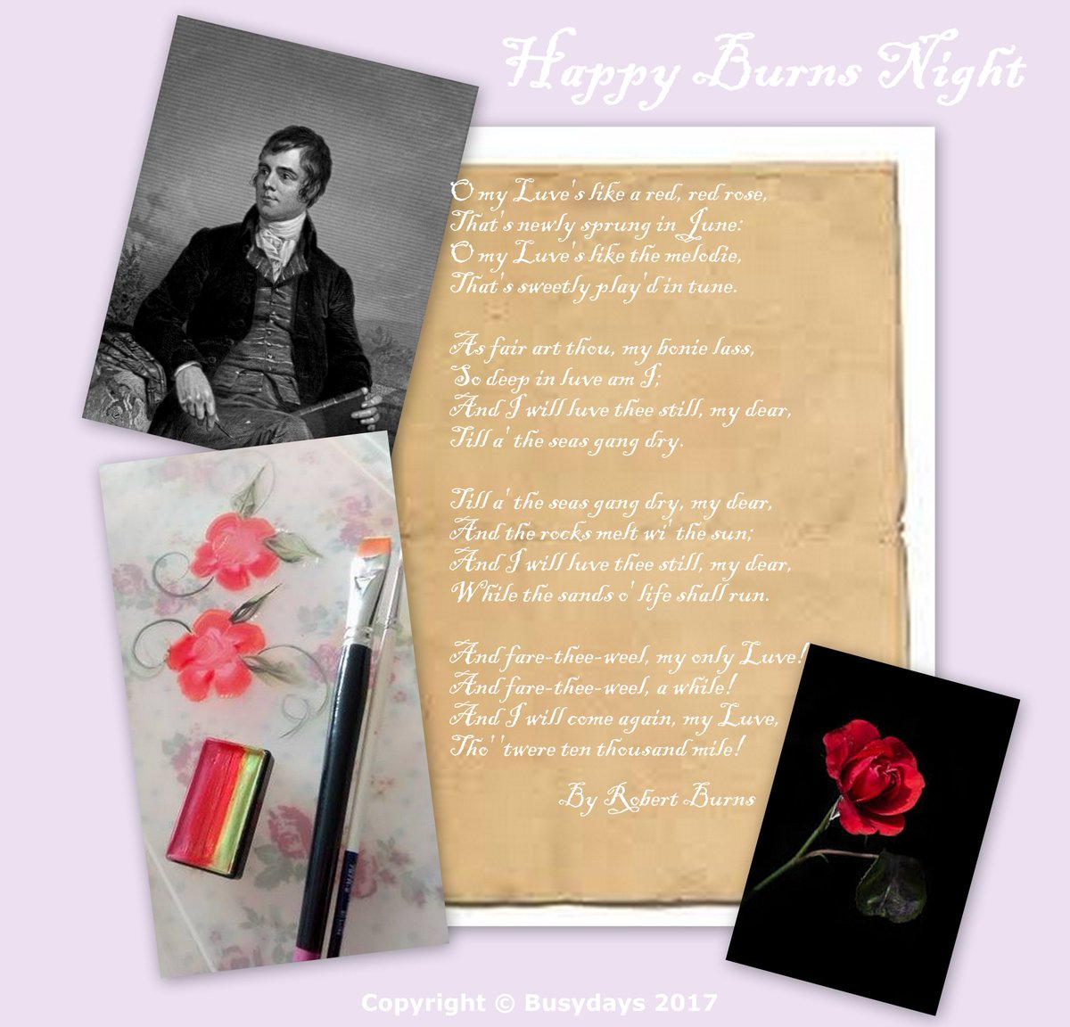 Busydays on twitter happy burns nightroses are such an busydays on twitter happy burns nightroses are such an inspiration for usthanks robert burns for reminding us burnsnight scotland facepaint m4hsunfo