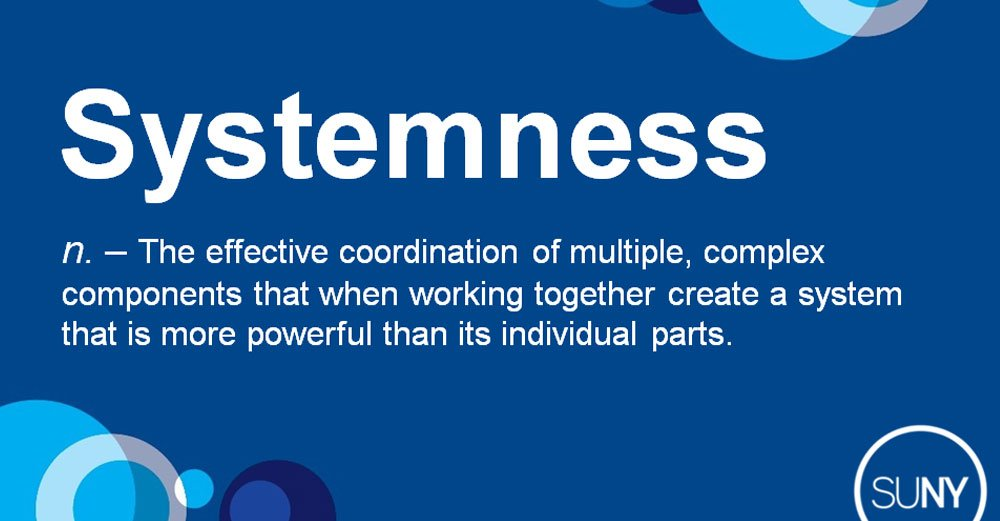 At the very heart of the SUNY brand, we are a whole that is greater than the sum of its parts. That's what #systemness is. #SOU2017 https://t.co/6HR3gfToXA