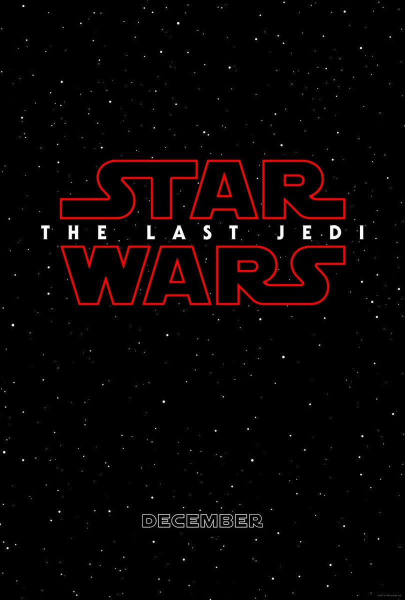 Just Announced! The next @starwars film will be called STAR WARS: THE LAST JEDI. https://t.co/nR2Md5JJKQ