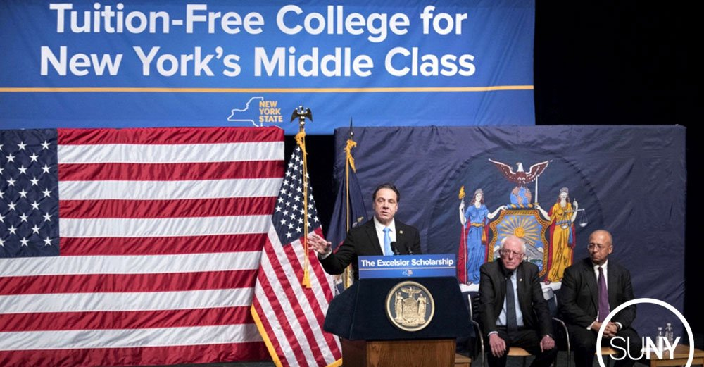 As The State University of New York, it's our responsibility to push boundaries. The Excelsior Scholarship proposal will do that. #SOU2017 https://t.co/sVUbkgoREl