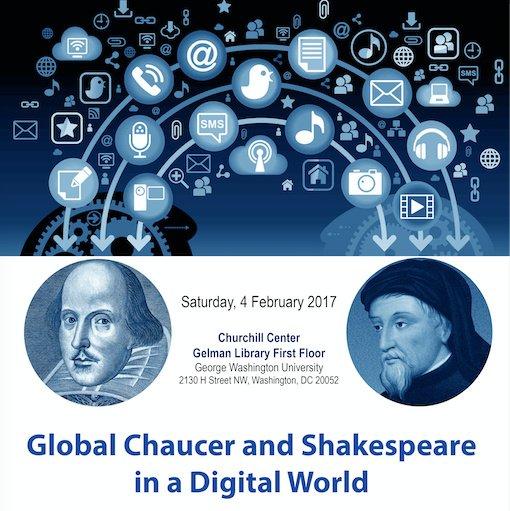Sat 4 Feb 2017: #Global #Chaucer & #Shakespeare in a #Digital World! Botelho & luminaries! FREE! Info & regn https://t.co/H6sk3NWogr #gwdh17 https://t.co/Xgn2ya6rEi