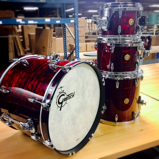 gretsch drums on twitter usa custom finished in ruby red pearl what do you think. Black Bedroom Furniture Sets. Home Design Ideas