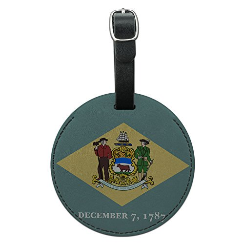 About Delaware State Flag Round Leather Luggage ID Tag Suitcase Carry-On on Kids Craft Easy recommended through Kids Craft Easy