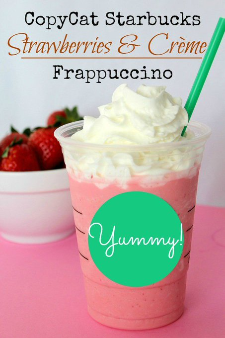 CopyCat Starbucks Strawberries & Crème Frappuccino