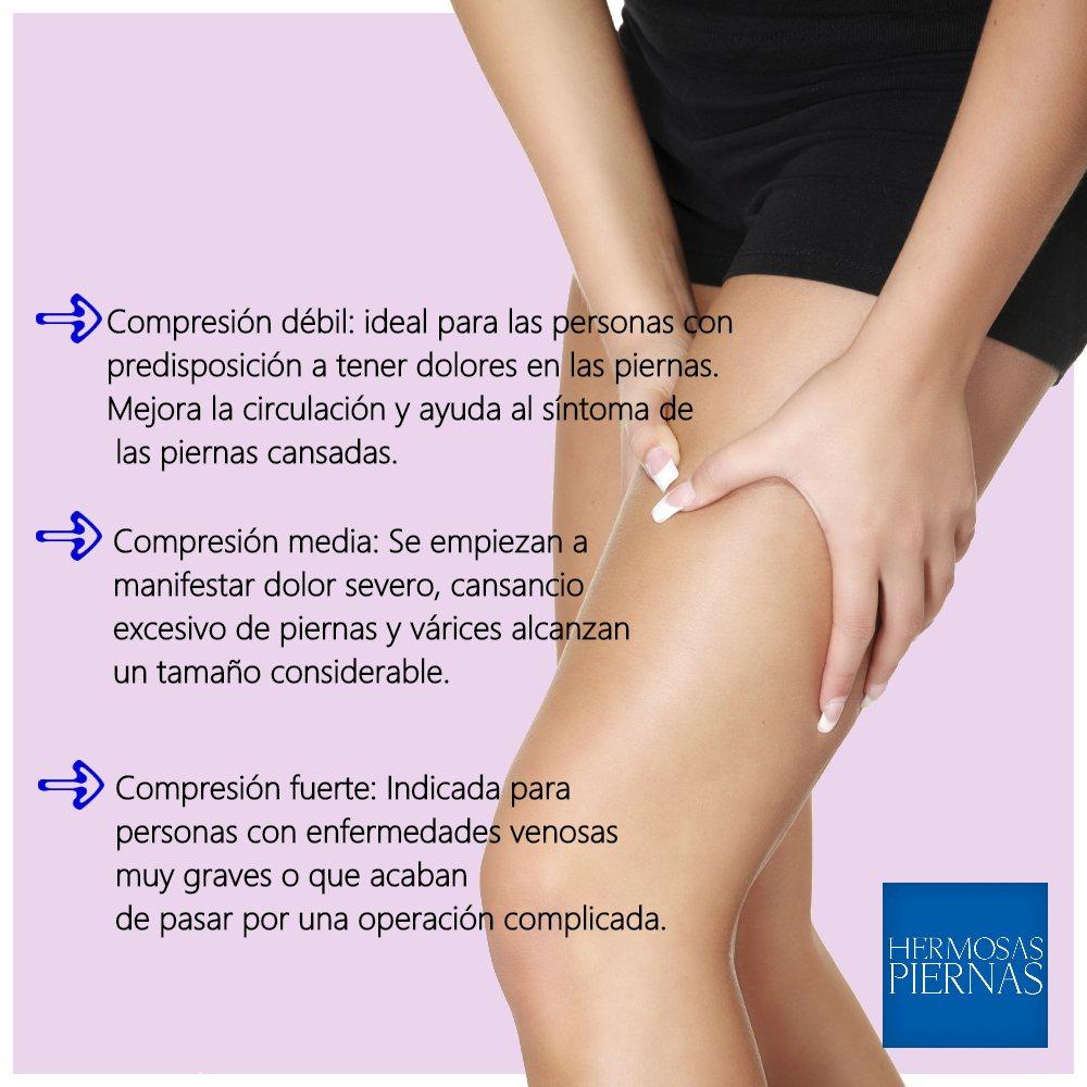 Débiles síntomas cansancio piernas