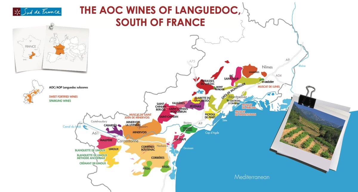 Limoux France Map.Languedocwines On Twitter How Many Aops Do You Count On This Map