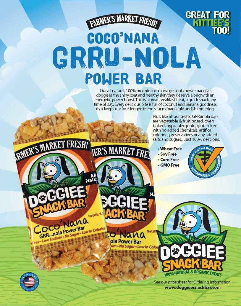 Doggiee Snack Bar </p>                     					</div>                     <!--bof Product URL -->                                         <!--eof Product URL -->                     <!--bof Quantity Discounts table -->                                         <!--eof Quantity Discounts table -->                 </div>                             </div>         </div>     </div>     