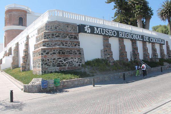 Vista de la fachada del Museo Regional de Cholula