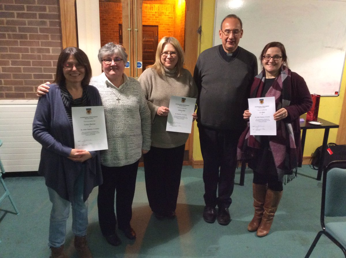 Congratulations to Mrs Bell, Mrs Burton & Mrs Bale who have completed the Sewing the Seeds course this evening. @MaryvaleInst @SisterGillian