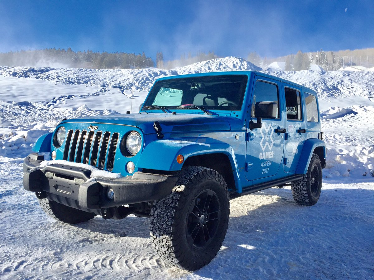 Our official 2017 @Jeep Wranglers have arrived in Aspen! #JeepXGames