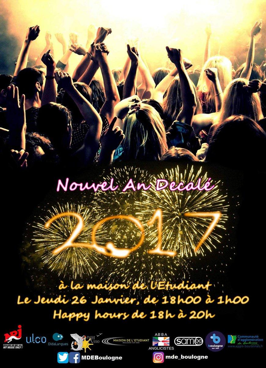 Ce jeudi, la @MDEBoulogne organise sa soirée #NouvelAn2017 ! Venez nombreux! <br>http://pic.twitter.com/tyfzhhagmC