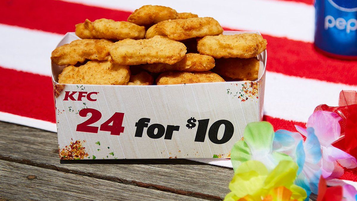 Kfc Australia On Twitter Our 24 Nuggets For 10 Deal Is Back So