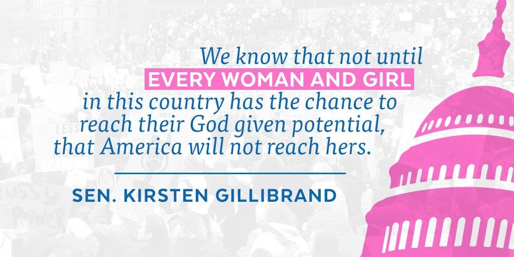 We must speak up to empower women and girls @KirstenGillibrand #WomensMarch