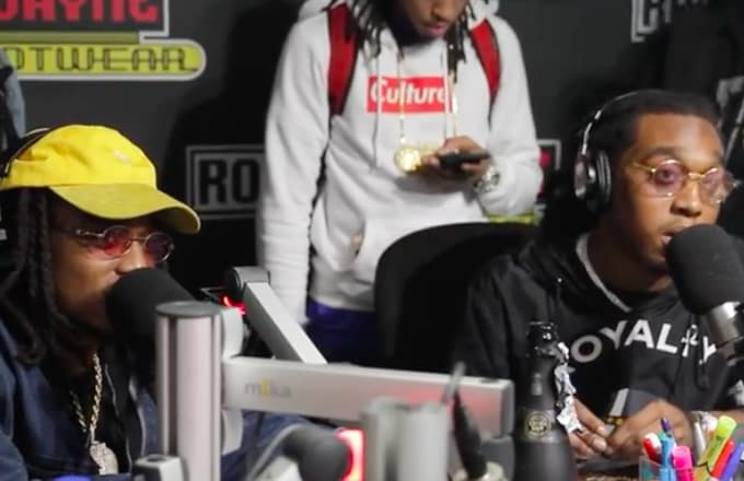 Watch Migos freestyle a children's book over their 'Bad and Boujee' be...