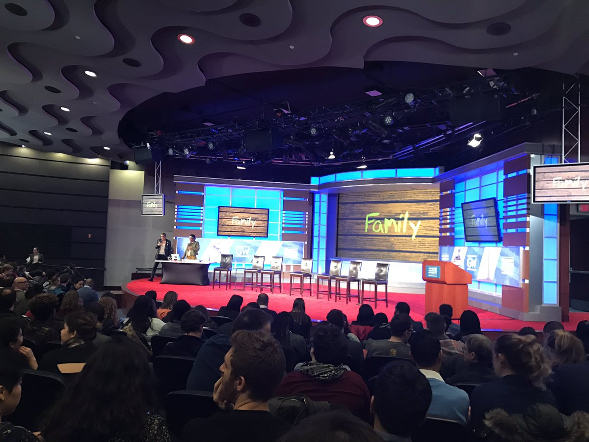 Packed house for tonight's @DemocracyColor #DNCforum at GWU. https://t...