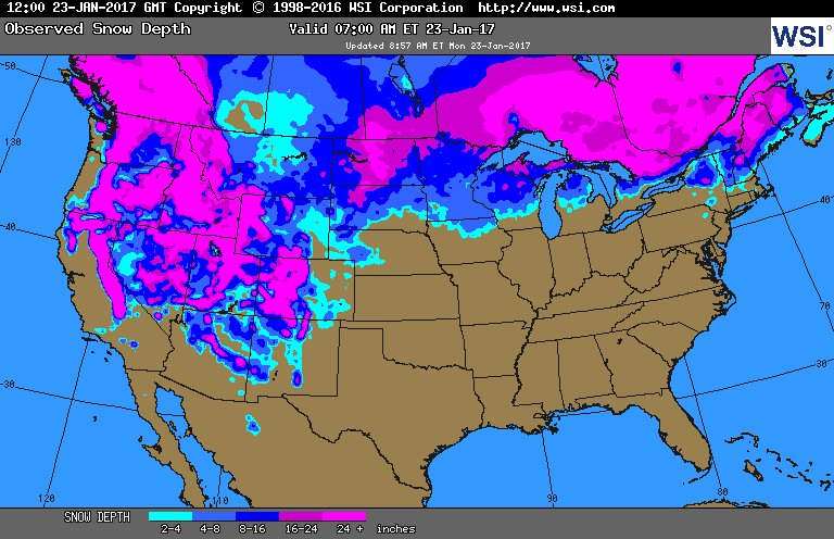 Habeeb Habeeb On Twitter Snow Cover Map For US For January Rd - Map of us snow cover