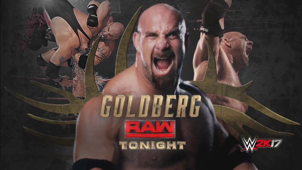 TONIGHT: @Goldberg returns to Monday Night #RAW just SIX DAYS before c...