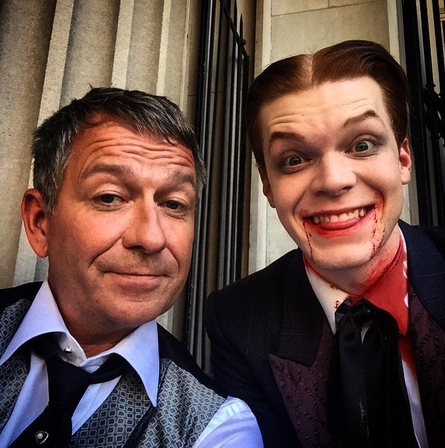 Happier times . When #jeromevaleska was alive . #Gotham https://t.co/O...